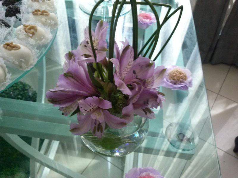 Debutante decoração lilás